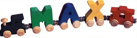 Personalized 3 Letter Bright Name Train