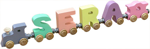 Personalized 4 Letter Pastel Name Train