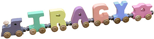 Personalized 5 Letter Pastel Name Train