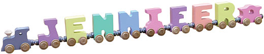 Personalized 8 Letter Pastel Name Train