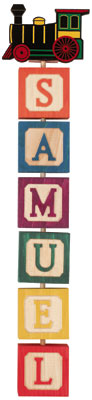 Personalized 6 Letter Hang a Name